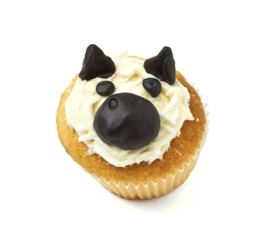 Så här gör du söta hund-cupcakes