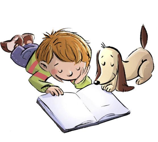 Högläsning för hund ska öka läsintresset