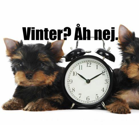 Glöm inte att det blir vintertid!