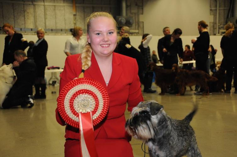 Vinnaren i junior SM i handling, Stina Frankesjö från Örebro.