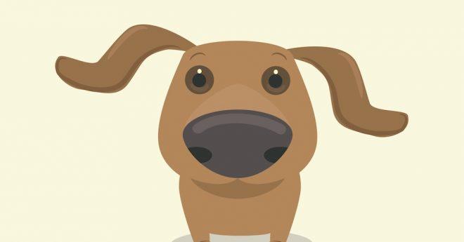 illustration av hund med stor nos
