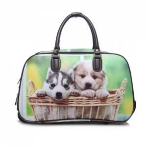 smart kabinväska med hundbild