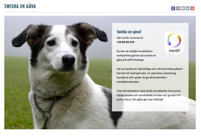 Swisha till Hundstallet på 123 9005 570