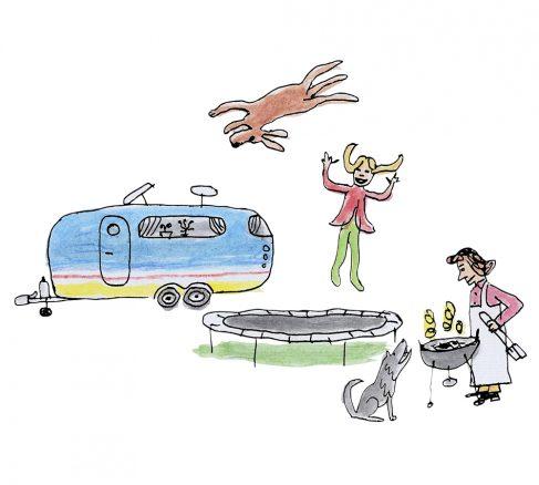 Illustration: Hur semestrar du med hunden?