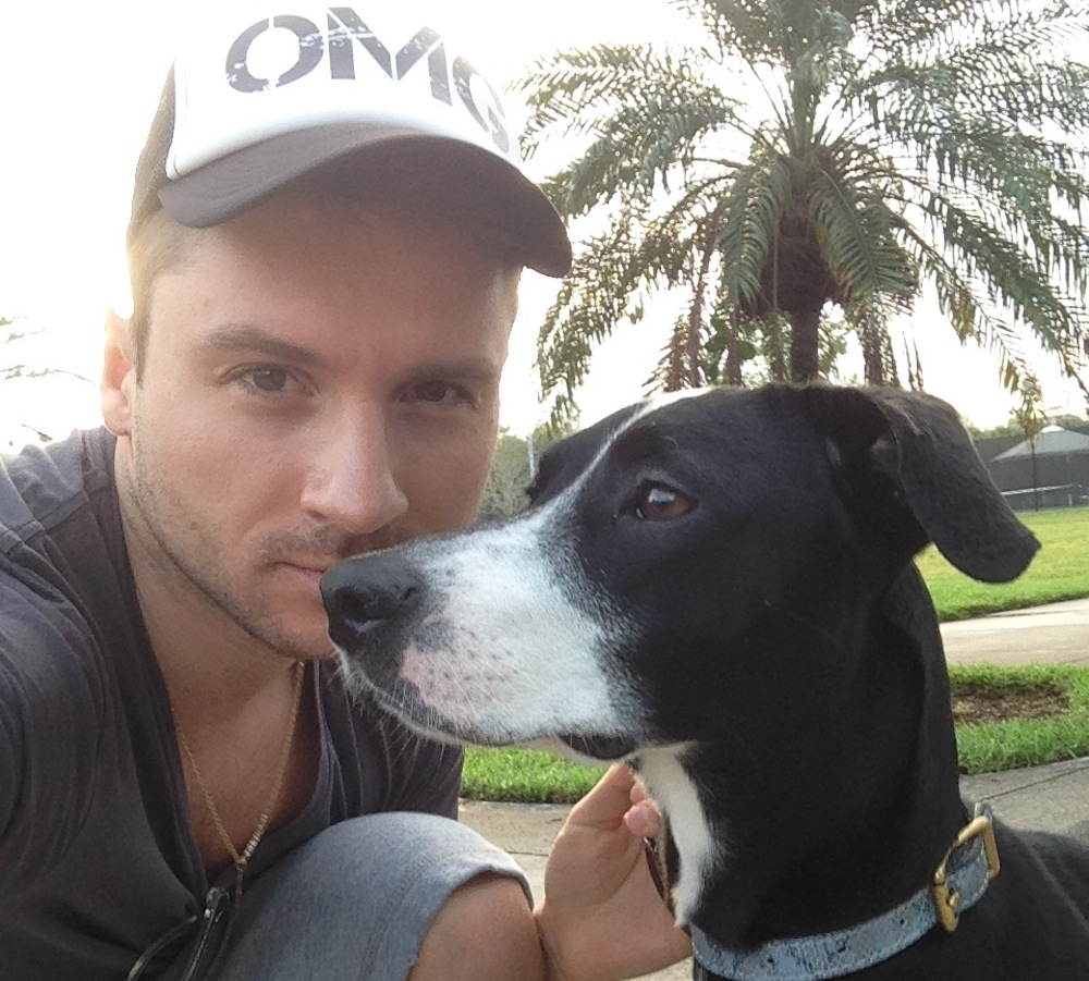 Sergej Lazarev & hans hittehund Daisy
