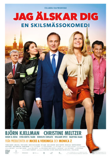 FIlmaffisch för Björn Kjellmans nya komedi: Jag älskar dig