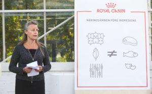 Åsa Dufva från Royal Canin berättade om matens innehåll