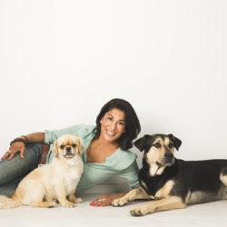 Carro med sina hundar Krutor och Koi.