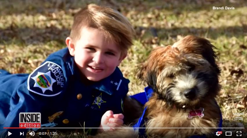 Världens yngsta polis och hunden Ruby