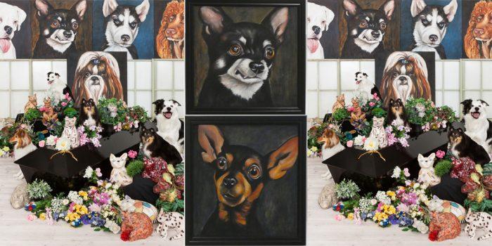 80 hundmålningar till beskådan i Kristinehamn